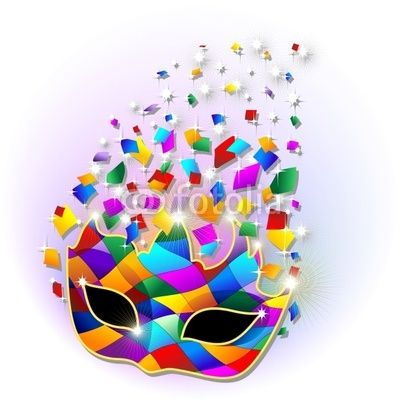 #Glitter #Bright and #Colorful #Harlequin #Carnival #Party #Mask-#Vector © bluedarkat  http://it.fotolia.com/id/28618324#