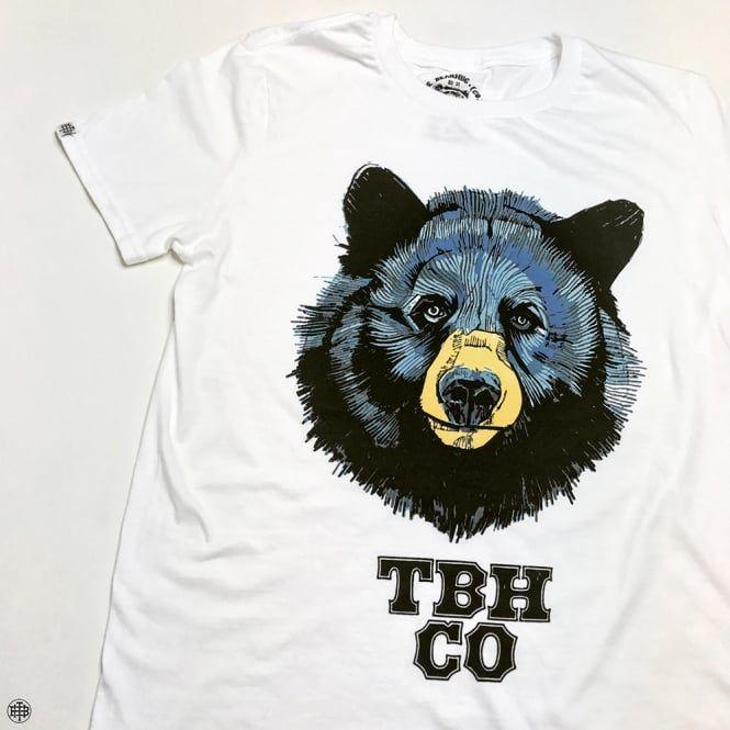 Blue Bear - White T-Shirt