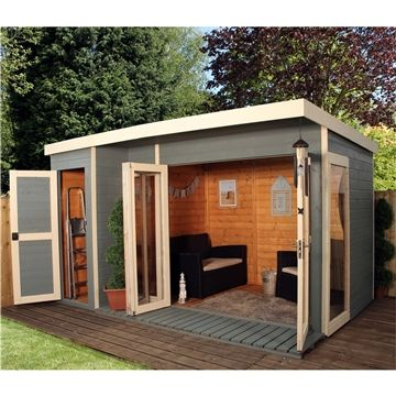 12ft x 8ft Contempory Gardenroom Large Combi (12mm T&G Floor & Roof)