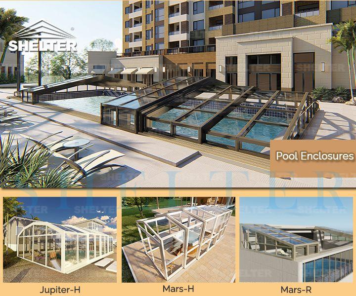Sunshield Resort Luxury Insulated Retractable Pool Enclosures Sunshield Residential Pool Pool Enclosures Patio Enclosures