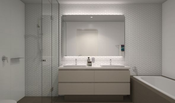 3 Bedroom Apartment Bathroom - Harold park by mirvac- for tenanted properties