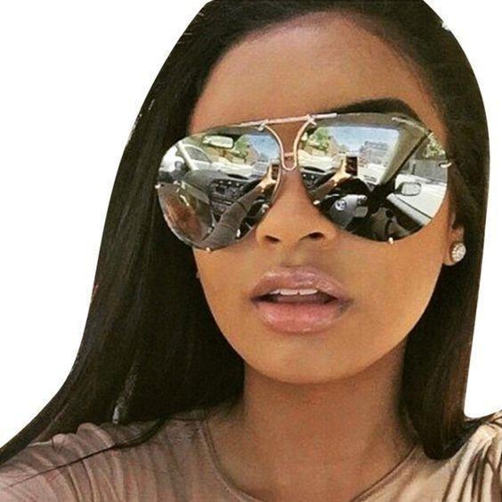 """MIRROR """"Posche"""" OVERSIZED Women Sunglasses Aviator Flat Top Square Shadz  #shadz #Aviator"""