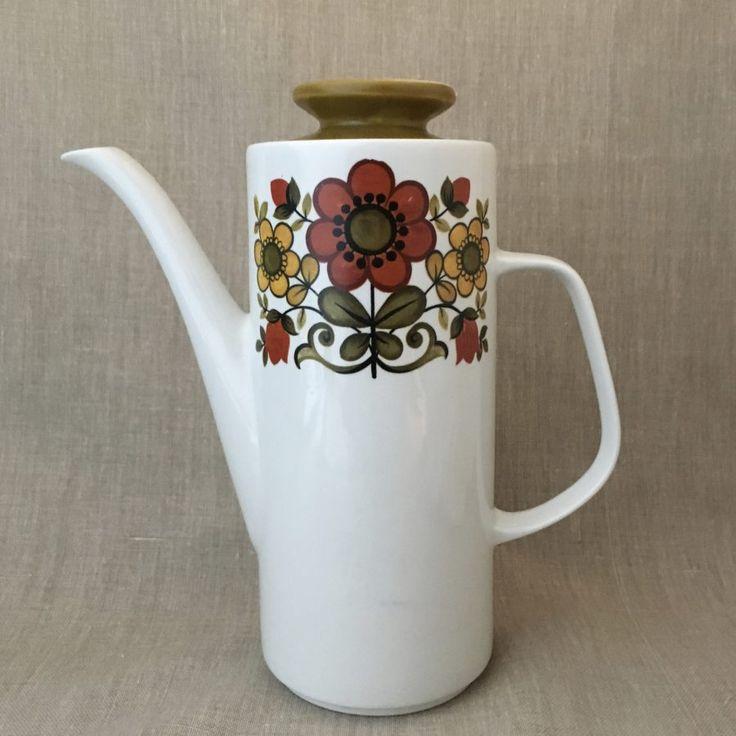 J&G Meakin Studio Coffee Pot Fleur by Jessie Tait c1969