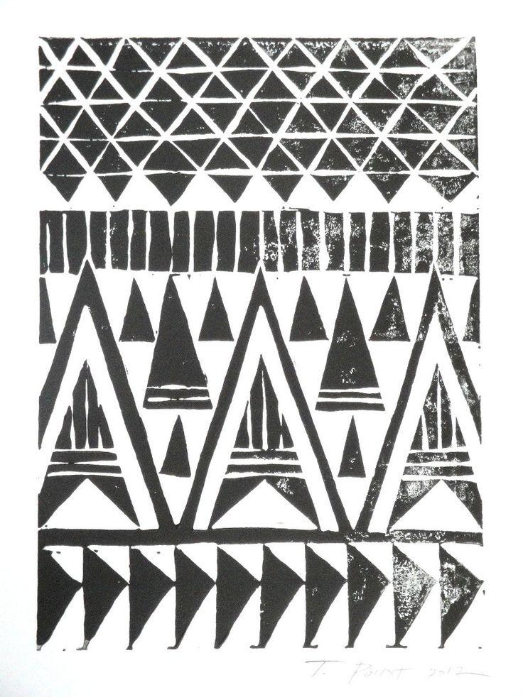 black & white aztec / more art here