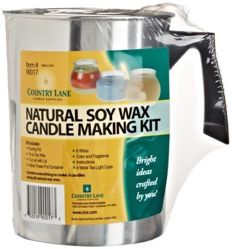Natural Soy Wax Candle Making Kit by Country Lane, New, Free Ship #CountryLane