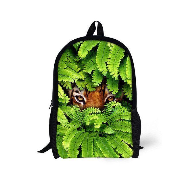 FORUDESIGNS Monkey Printing School Bags for Kids,High Student Children 3D Animal Book Bag,Teenager Girls Boys 16 Inch Schoolbag
