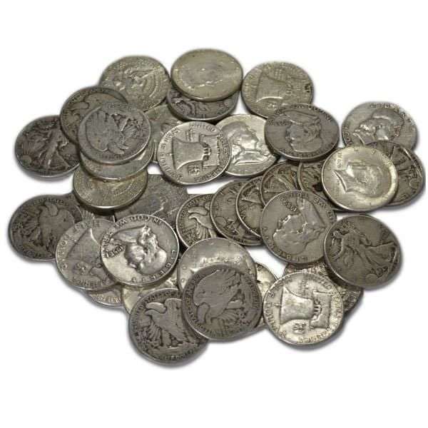random date 90/% Silver Halves Silver Franklin Halves Lot of 2