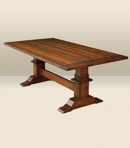 Chesterton Plank Top Solid Wood Table | Amish Furniture | Solid Wood  Mission Shaker Furniture |