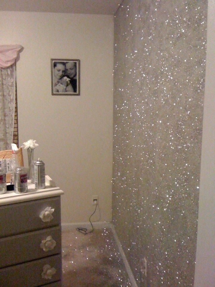 Gold Glitter Bedroom Rose Gold Glitter Wall Paint