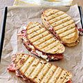 Salami and Cheese Panini