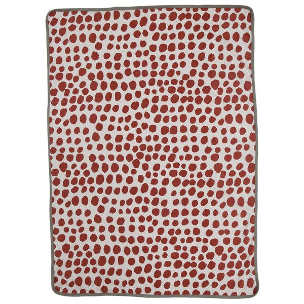 Fine Little Day red dot baby blanket  Soft cotton nursery swaddle