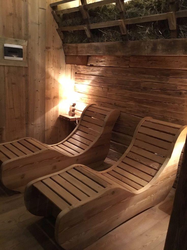Chaise longue & fieno terapeutico. Piccolo centro benessere in legno antico situato in Val Grana (CN) - Italy #Dallalberoallarte