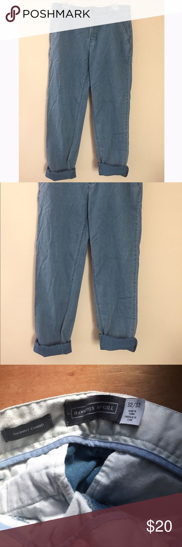 Men's Skinny Chino 32x32 Skinny chino jeans from urban outfitters. Like new. Soft denim. Very cool relaxed look. Urban Outfitters Pants Chinos & Khakis