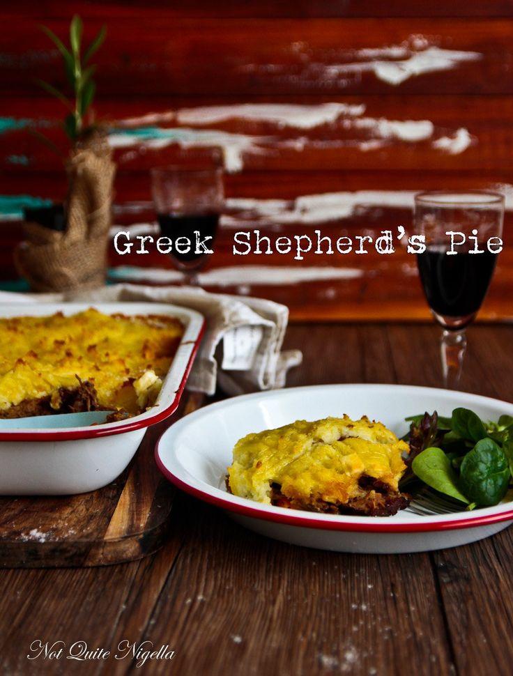 A Warming Greek Style Shepherd's Pie