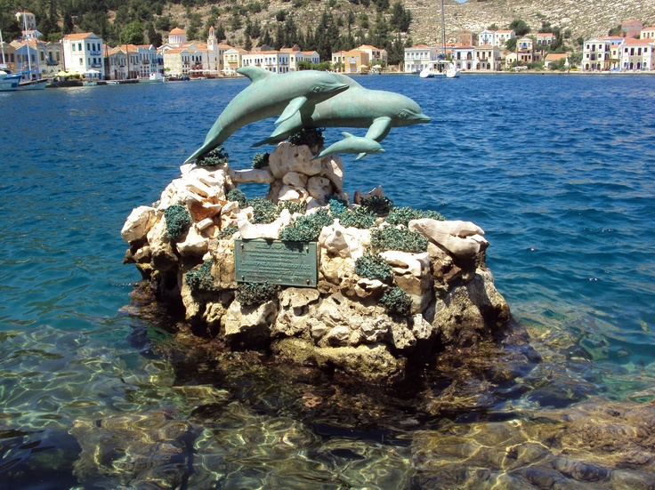 Dolphin Statue: #Kasterlorizo Island, #Greece (Also #Castelorizo or #Megisti) the easternmost #Greek Island