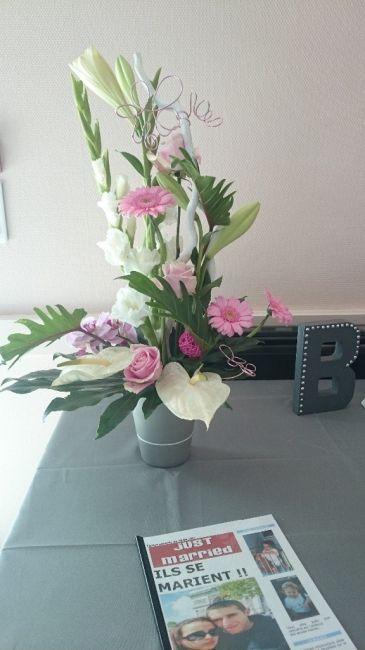 Composition florale pour la table de l'urne