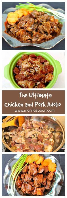 332 best international food images on pinterest destinations manila spoon chicken and pork adobo recipe forumfinder Choice Image