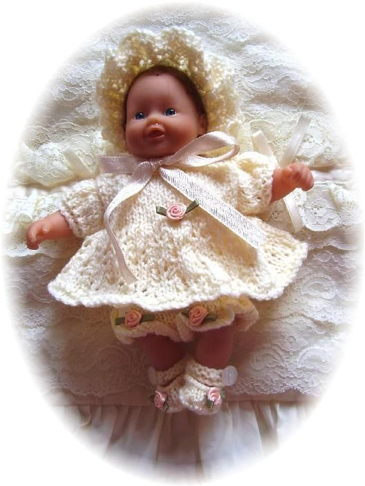FREE Angel Set 7-12 inch doll-angel top, pants, shoes, bonnet, free knitting…