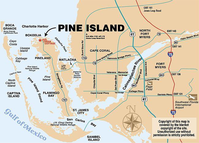 Pine Island Beach Florida Directions