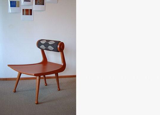 Perhonen Chair, 2005 designed by akira minagawa.  Fabric can be interchanged to suit your mood/season.