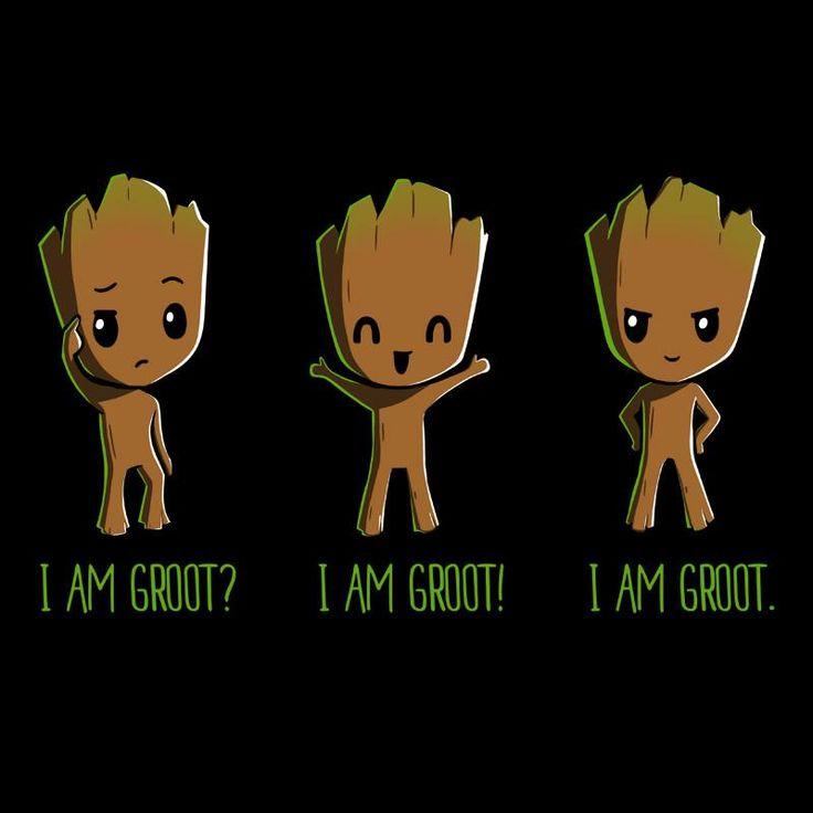 Groot (x3) (Drawing by TeeTurtle) #GuardiansOfTheGalaxy