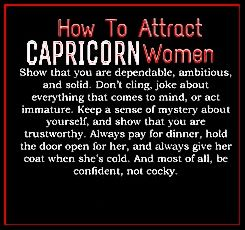 How to impress a capricorn woman