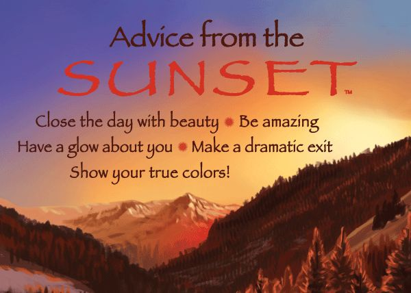 Advice from the Sunset - Jumbo Magnet - Your True Nature