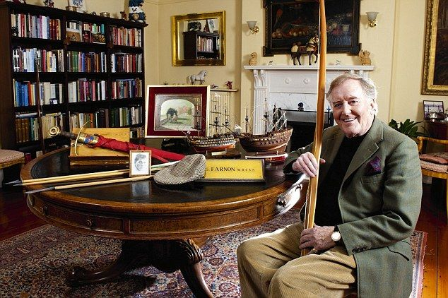 My haven: The All Creatures Great & Small star, Robert Hardy, 86, relaxes in the drawing room of his Cotswolds home