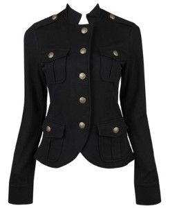 This jacket defines the waist and is structured to the point where the shoulders grab attention.