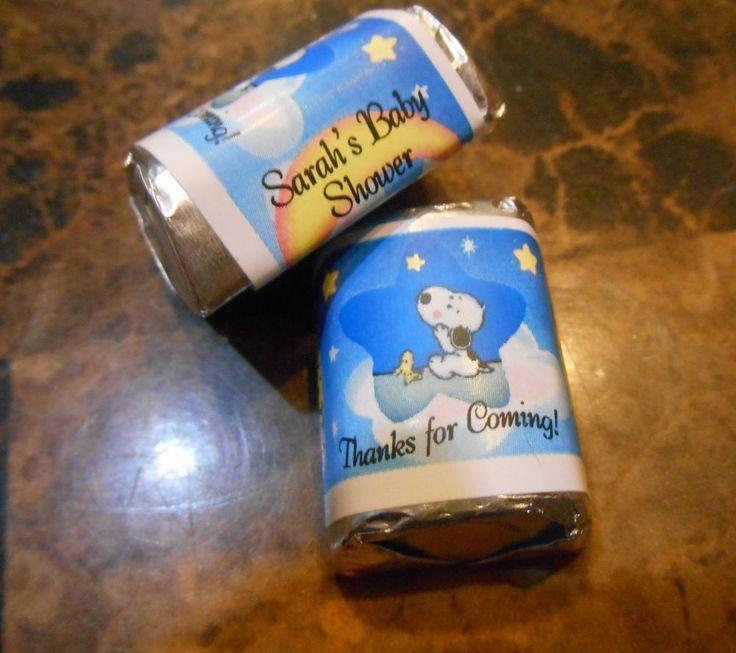 Brillante Baby Snoopy Personalizado Hershey Nugget envoltorios Baby Shower Recuerdos | Hogar y jardín, Tarjetas y suministros para fiestas, Suministros para fiestas | eBay!