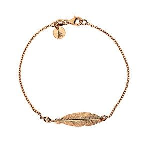 Rose Gold Vermeil Feather Bracelet