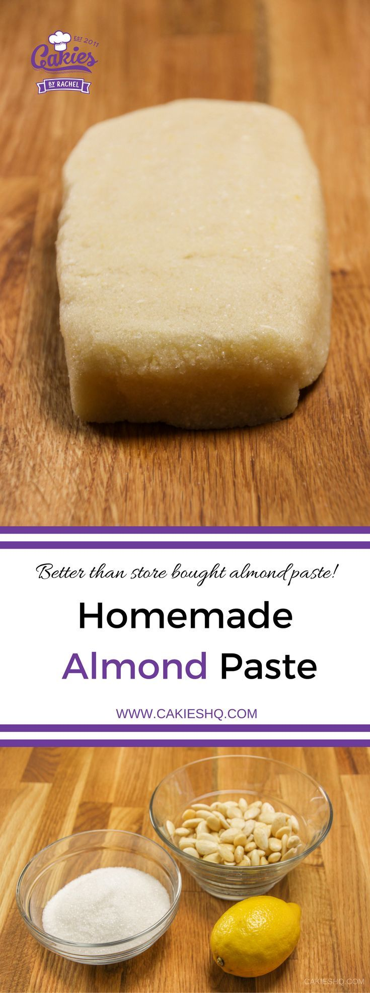 This homemade almond paste recipe is super easy and so much better than the stuff you can buy in the store! Learn how to make almond paste today.