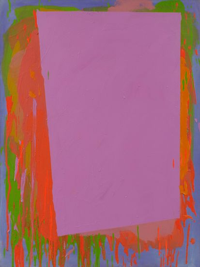 John Hoyland (1934-2011), 'Untitled [29.7.75]', 1975, acrylic on canvas, 122 x 91.5 cm, signed and dated on the canvas overlap. From Alan Wheatley Art