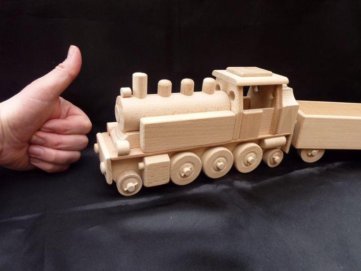 Holz Spielzeug Eisenbahn Lokomotive fur Kinder. 47.99 €