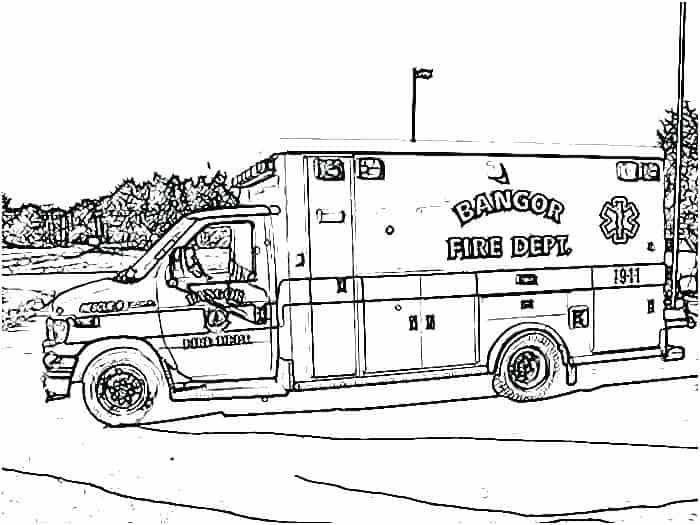 Coloring Pages For Adults For Ambulance Monster Truck Coloring Pages Truck Coloring Pages Coloring Pages