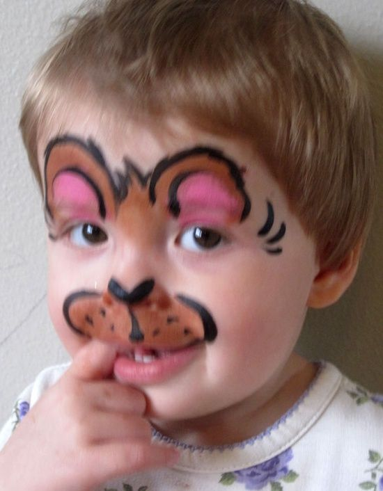 Teddy+bear+face+painting   Face Painting