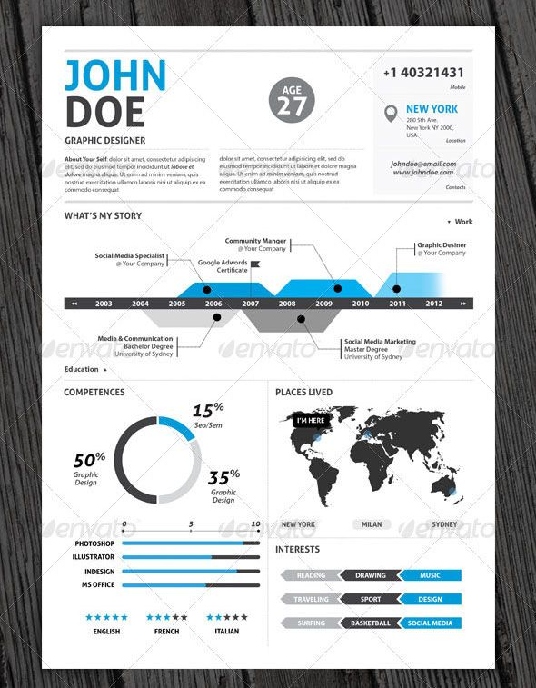 37 best Design Infographic Resumes images on Pinterest Career - infographic resume creator