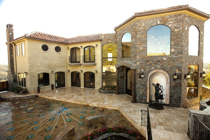 21 best images about tuscan style homes on pinterest for Tuscan exterior design ideas
