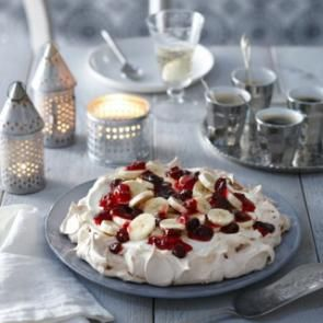 Pavlova met winterfruit | Smaakmakend | biologisch |  recepten | eten | food | bionext
