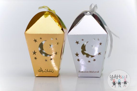 Ramadan Mubarak Party Box Fanoos - Pack of 10
