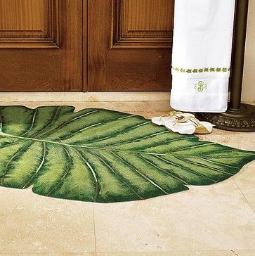 High Quality Palm Frond Indoor/Outdoor Rug Over Priced But Still Cool.