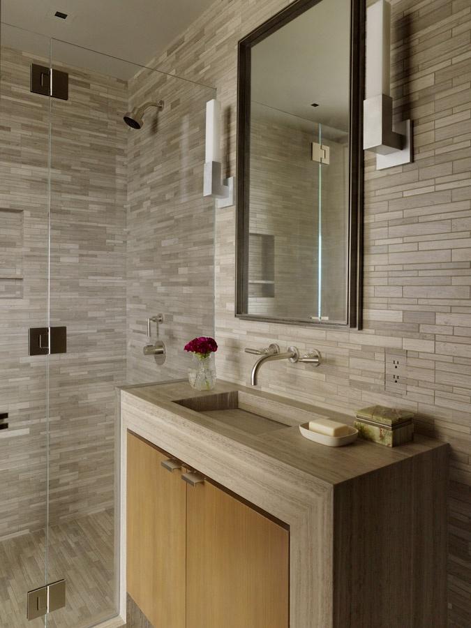 Contemporary High rise Apartment contemporary bathroom