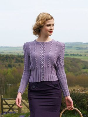 Cabled Cardigan - Debbie Bliss Land Girl. One of my work colleagues made this and it looks fantastic
