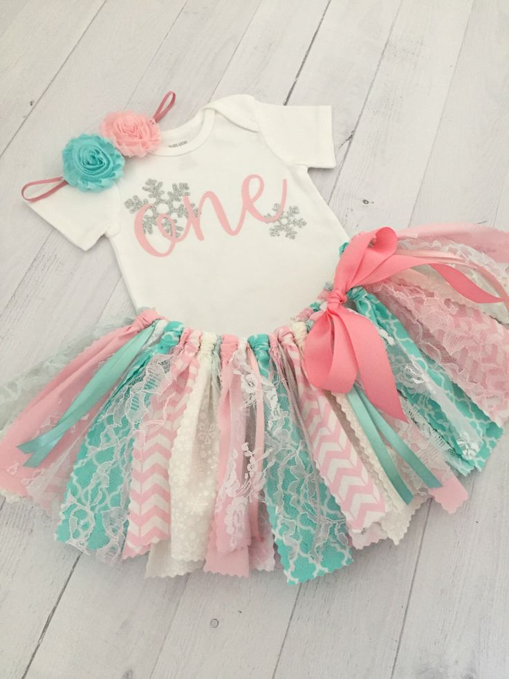Pink and Aqua/Blue Winter Wonderland Birthday Outfit with Headband, Winter Onederland First Birthday, Snowflake Birthday Theme by MeadowsMarvels on Etsy https://www.etsy.com/listing/475001428/pink-and-aquablue-winter-wonderland