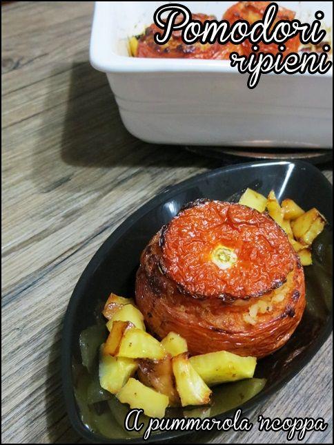 Pomodori ripieni di riso   A pummarola 'ncoppa serviti nella nostra Barchetta #Poloplast