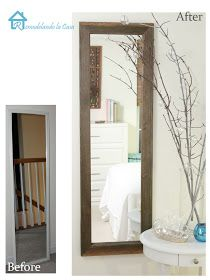 smart way to turn a cheap walmart mirror into a more substantial and costly one