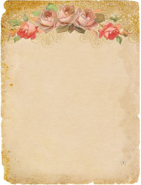 Victorian roses and aged paper
