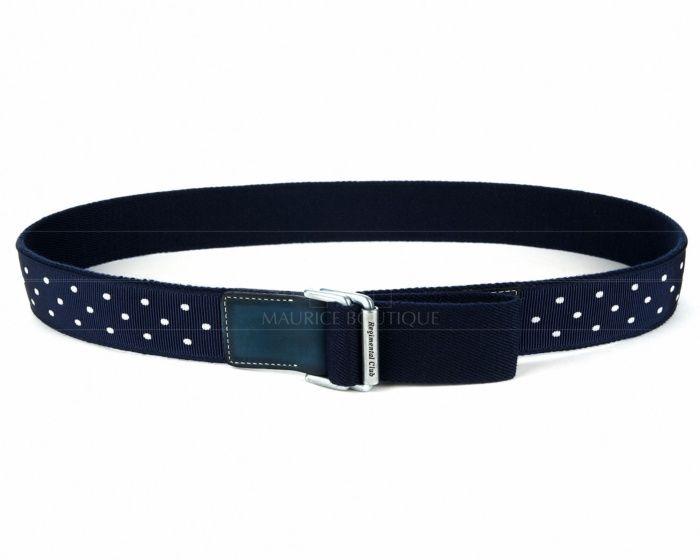 Cinturones hombre Leyva - Azul con Lunares - Hebilla