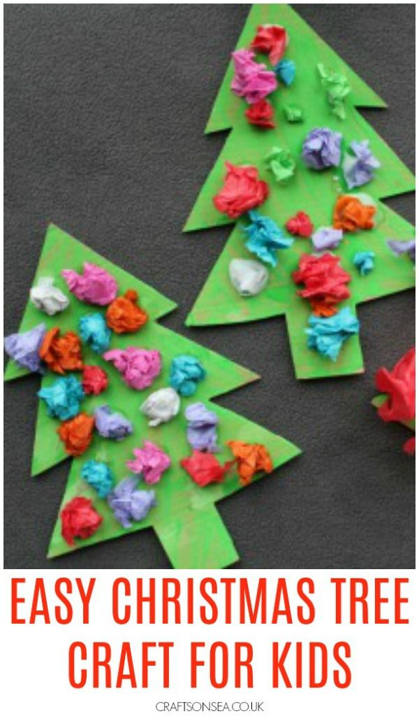 Scrunched Paper Christmas Trees Preschool Christmas Crafts Christmas Tree Crafts Christmas Crafts For Toddlers