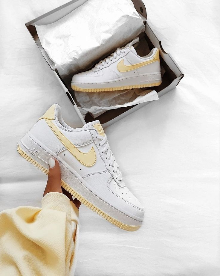 Nike Air Force 1 Shoes - White Yellow - 2019 - Things I love ...
